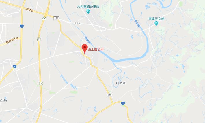 山上區公所位置圖(遠)