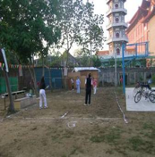 清晨居民至農場打羽毛球運動