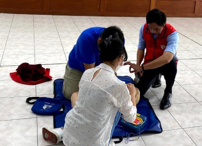 北區區公所109年AED「安心場所認證」講習與實作練習6