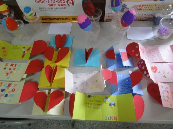 小朋友製作感恩卡片成品照