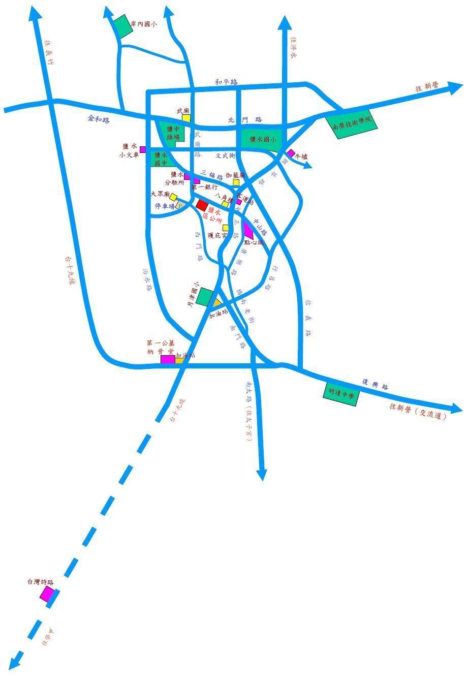 鹽水區市區地圖