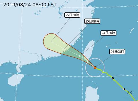 白鹿颱風路徑圖