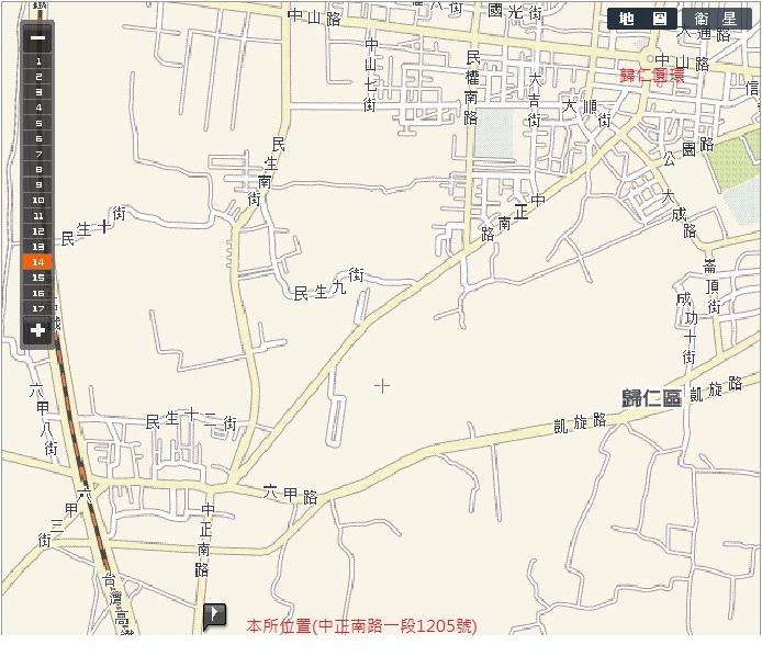 本所位置:GPS座標:經度120° 16