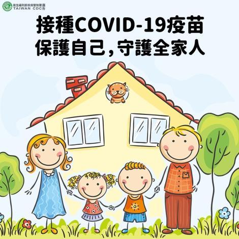 接種COVID-19疫苗保護自己守護全家人
