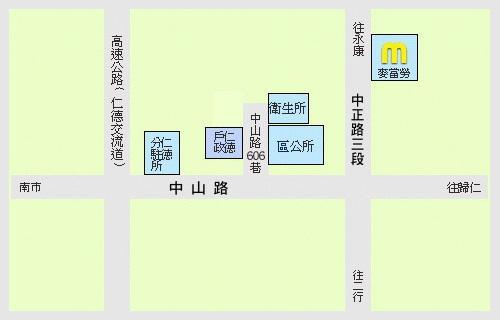 臺南市仁德戶政事務所位置圖