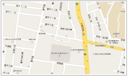 本處永華市政中心辦公室地圖