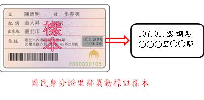 國民身分證里鄰調整標註異動樣本