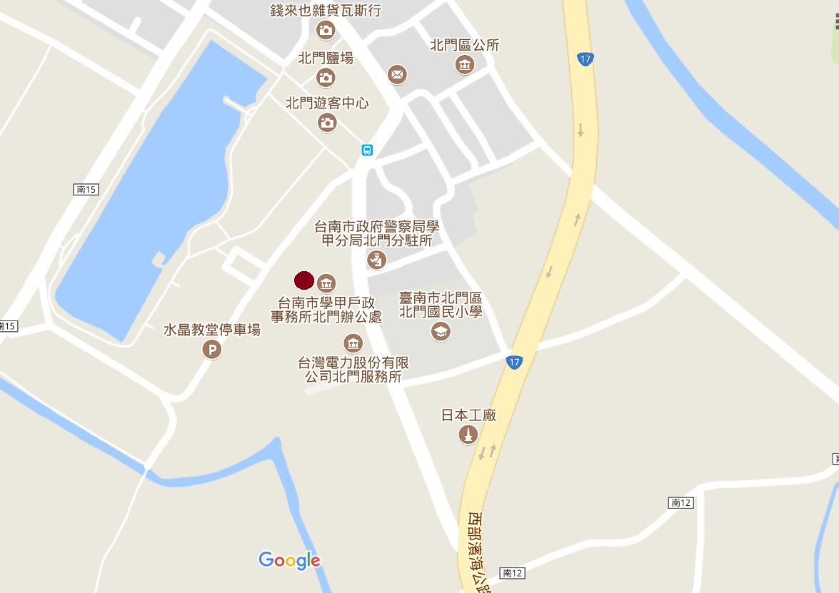 北門辦公處位置圖