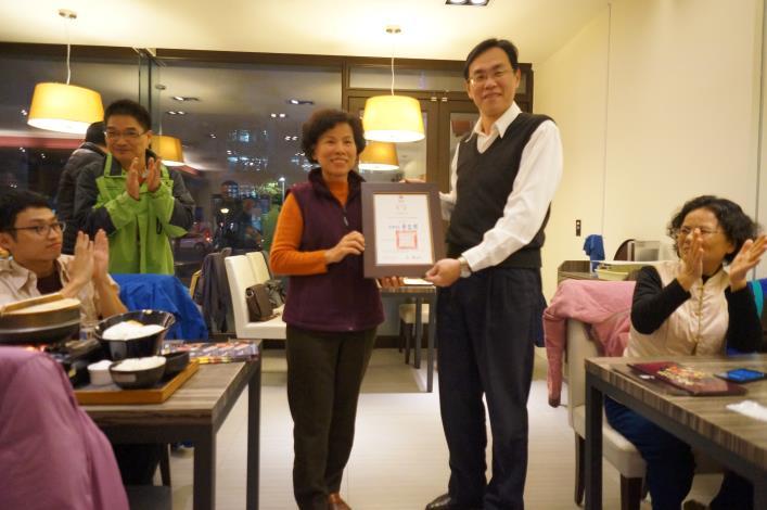 頒發106年度台南市志願服務獎勵銀質獎