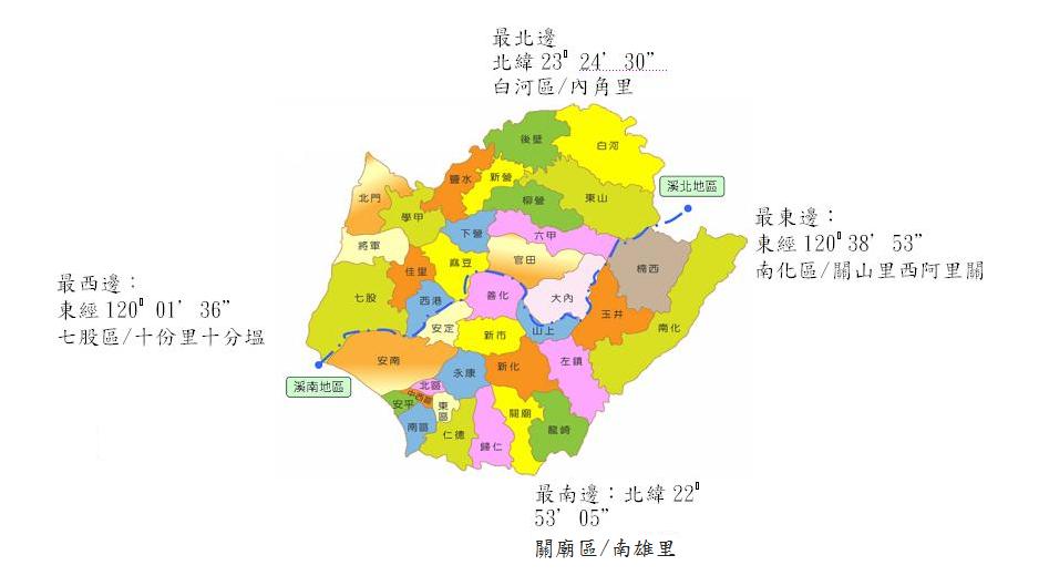 臺南地理環境