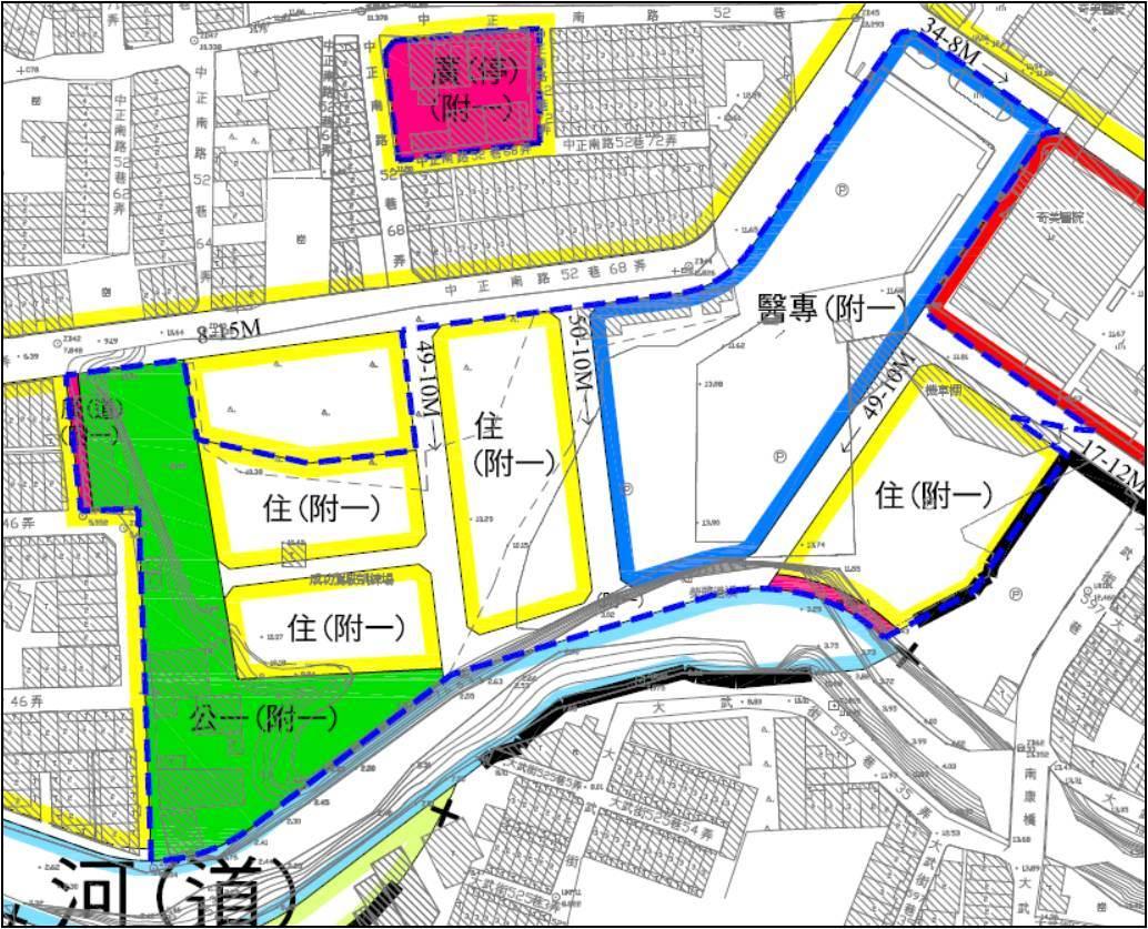 永康奇美醫療專區都市計畫(草案)示意圖