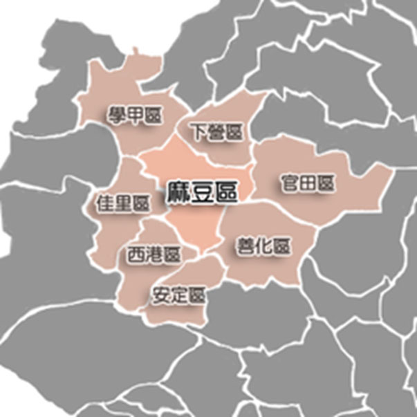 麻豆區位置圖