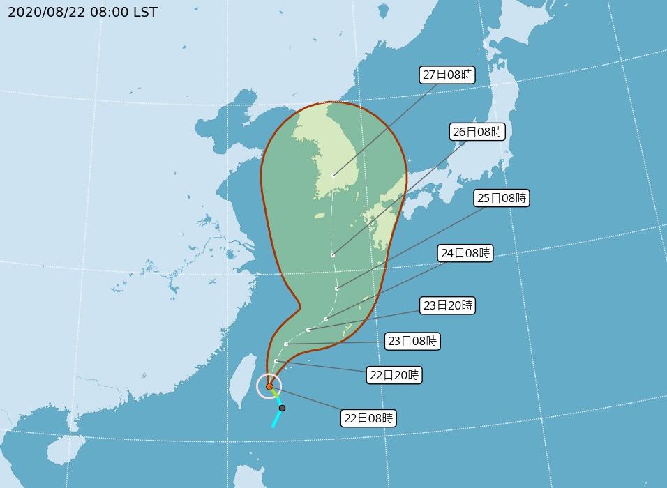 巴威颱風未來路徑預報圖
