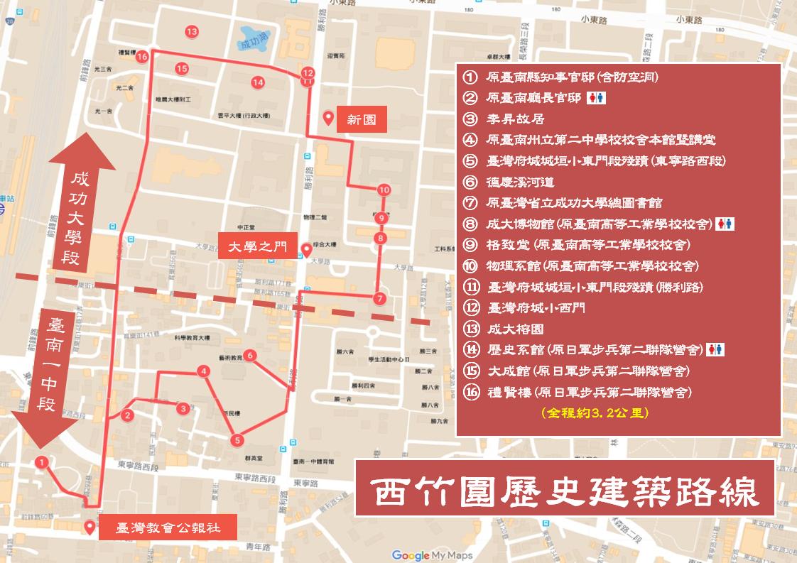 西竹圍歷史建築路線圖