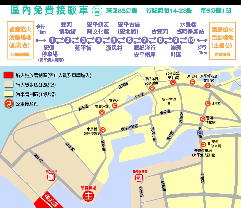安平區接駁車全圖