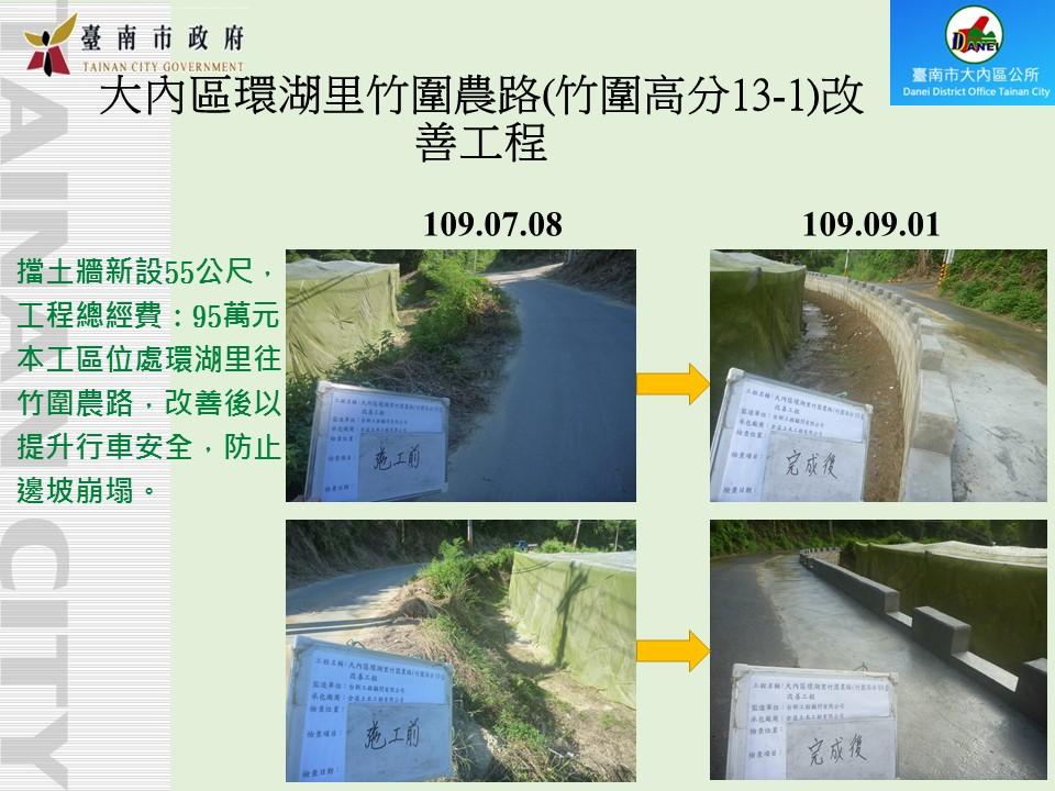 大內區環湖里竹圍農路(竹圍高分13-1)改善工程