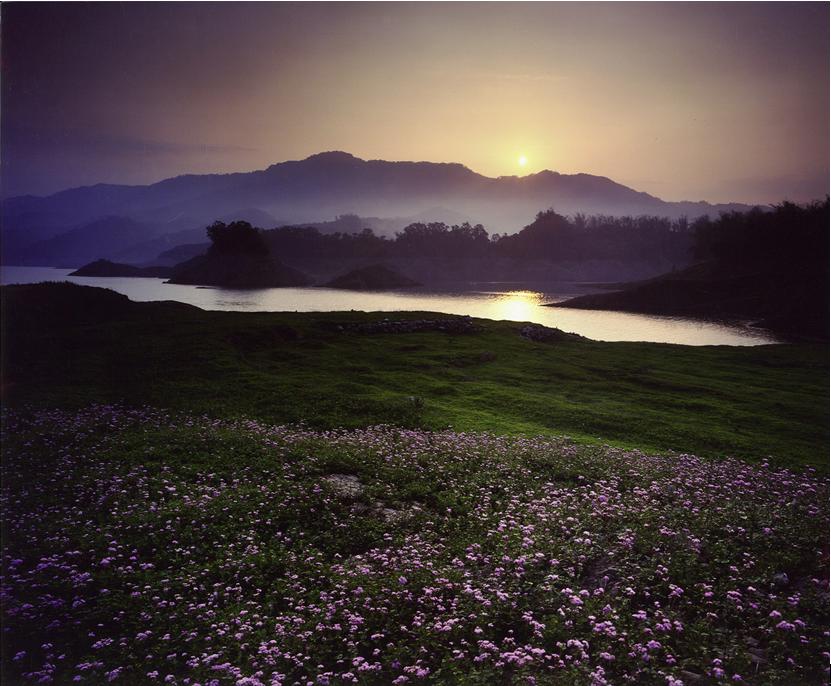 南化水庫夕陽