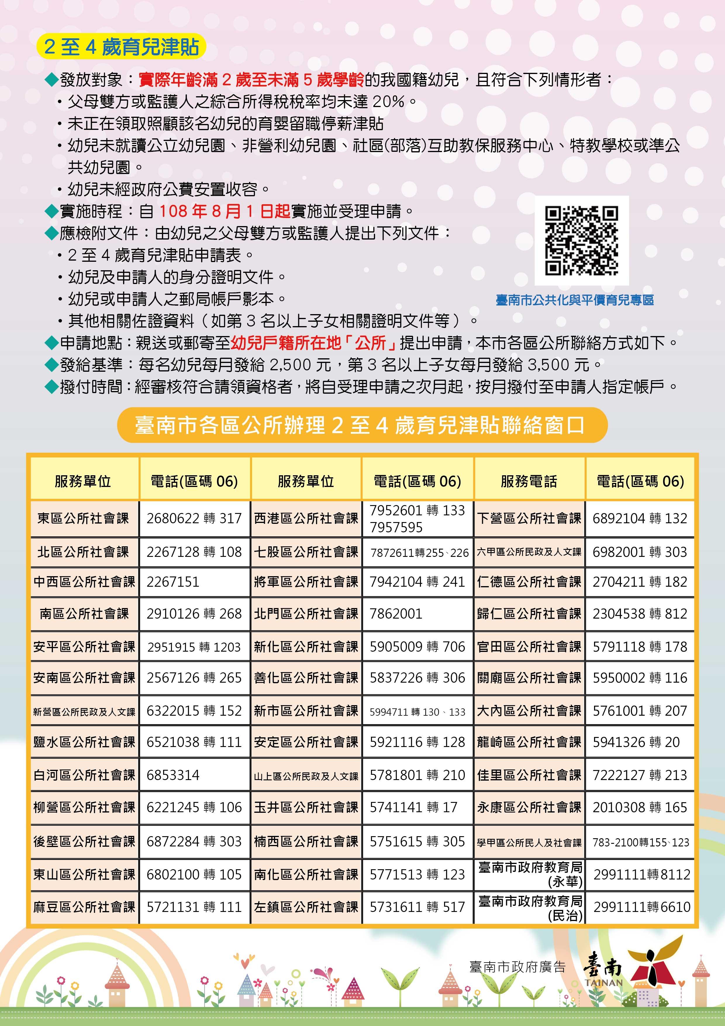 臺南市學前育兒津貼及就學補助簡表資訊.jpg